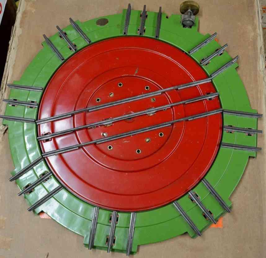 lionel 200 drehscheibe stahlblech gruen rot standard gauge