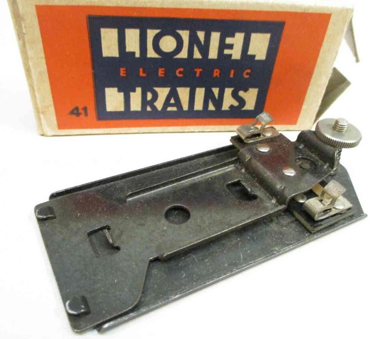 lionel 41 spielzeug eisenbahn kontakt aus metall gewichtsaktiviert feder