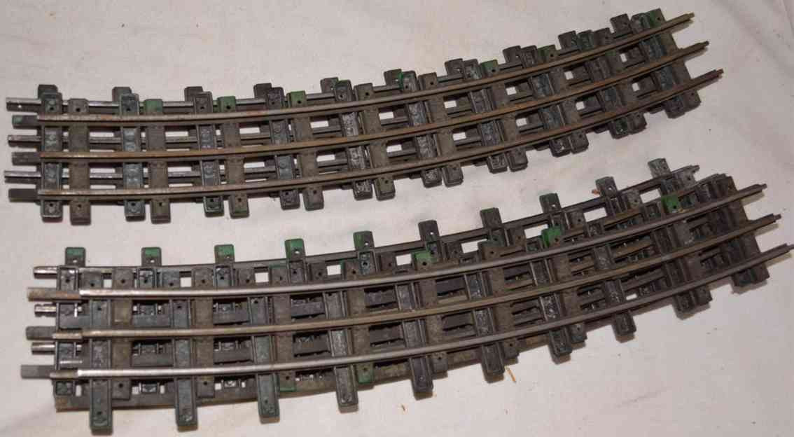 lionel 771 railway toy 8  pieces t-rail curved tracks gauge 0