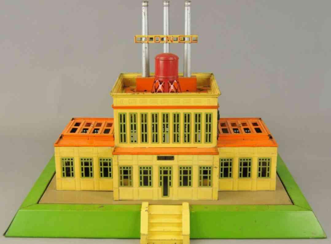 lionel 840 railway toy transformer power station green cream orange