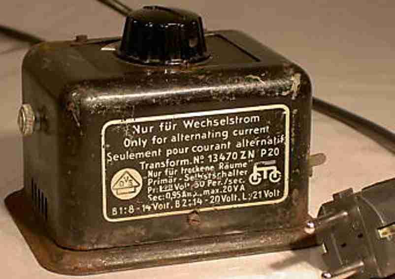 marklin 13470 zn railway toy transformer