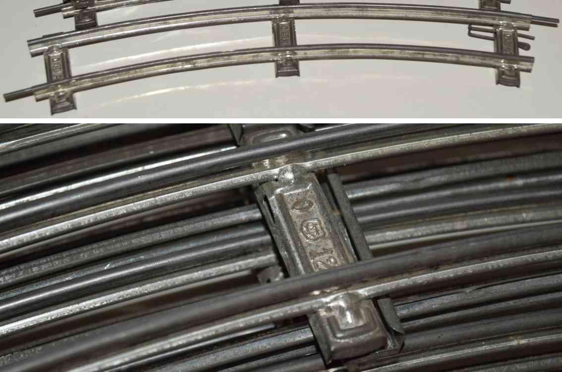 maerklin 1610 a 1/1 eisenbahn gebogene uhrwerk schiene