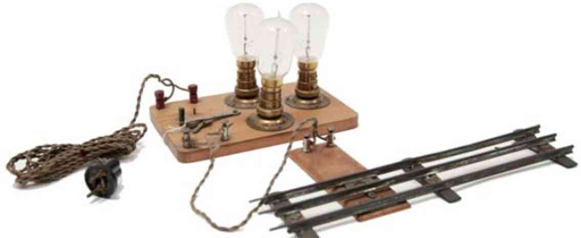 marklin maerklin 3470/3 toy lamp ballast system with track connection 3 lamps