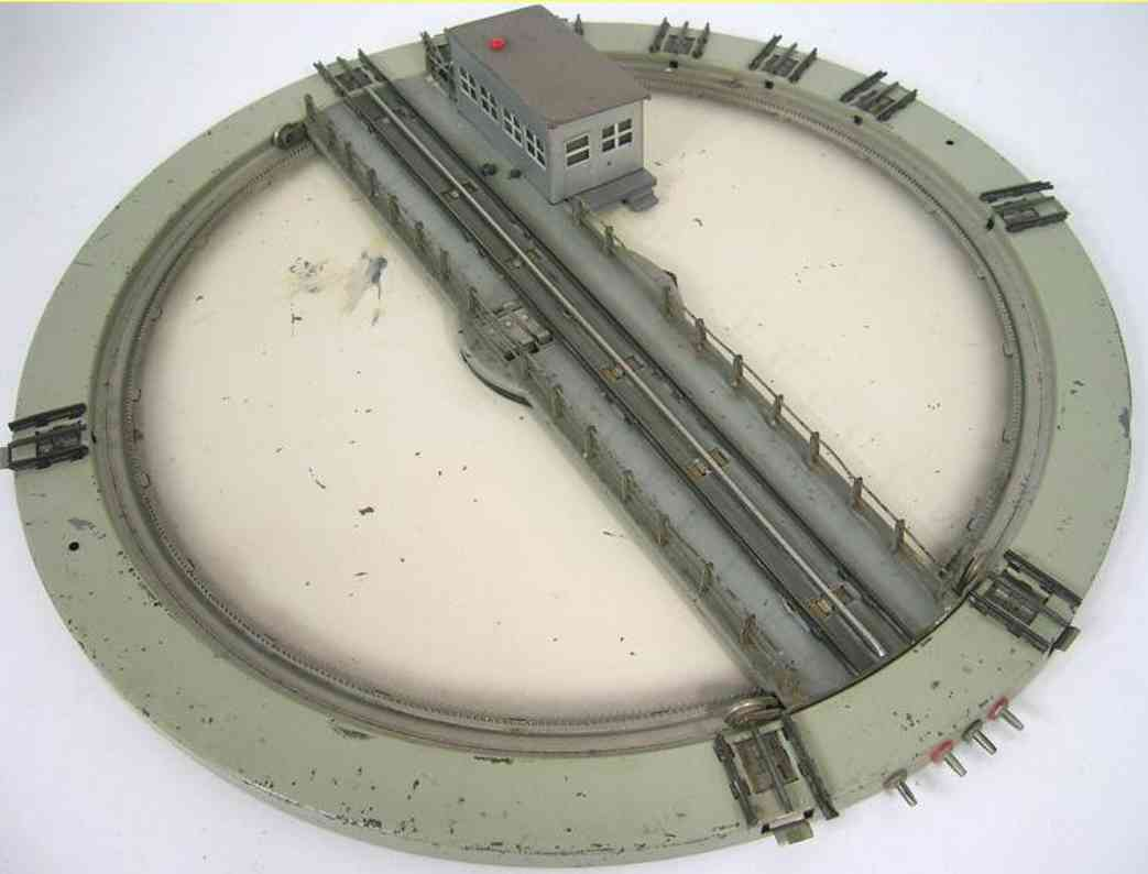 marklin maerklin 7027-1 railway toy rail power turntable with 10 sidings, gray building with drive and red