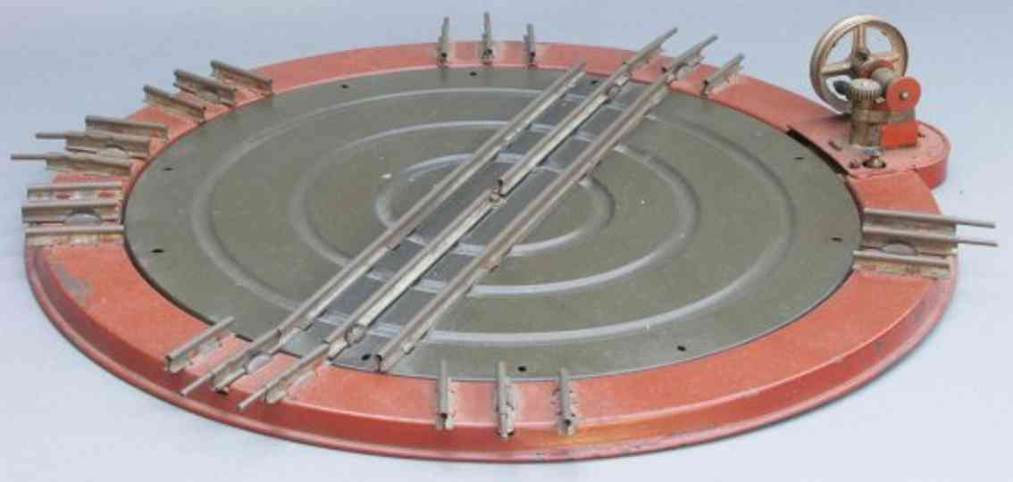 marklin maerklin ce 2128/0 railway toy turntable 8 connections and crank
