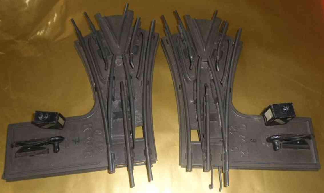 maerklin spielzeug eisenbahn schiene strom ol12 und or12 kwl kwr y, 2 weichen für dreileiterschienen