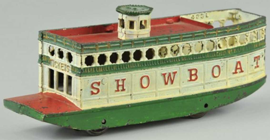 arcade cast iron toy ship steamboat showboat