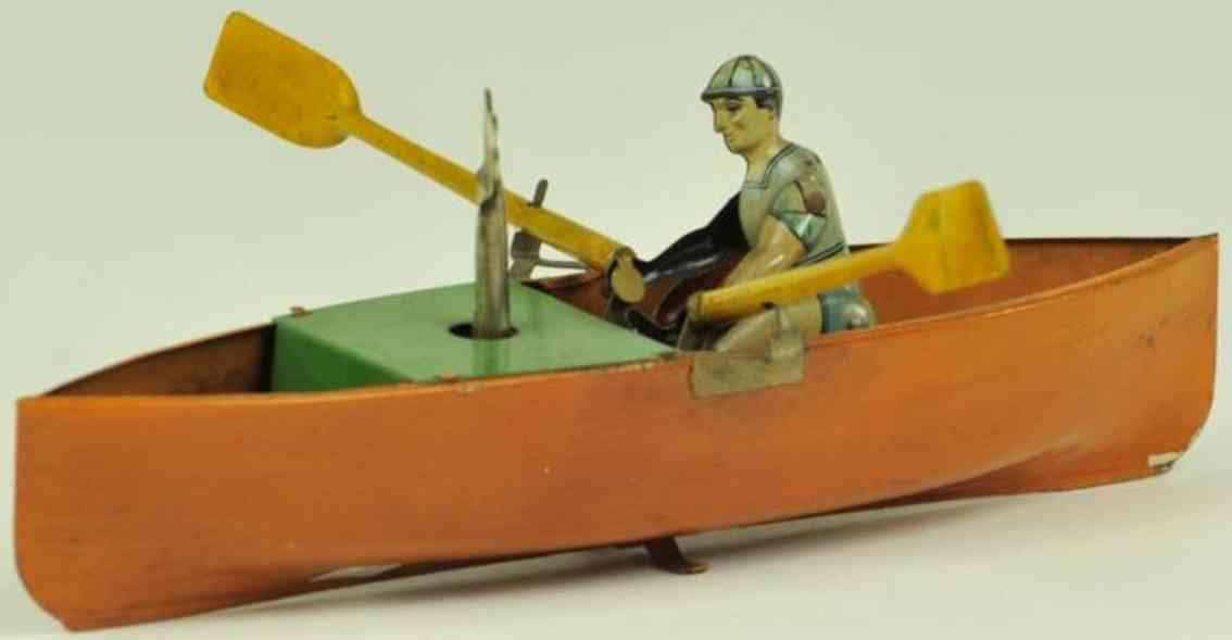 arnold 1610 blech spielzeug mann ruderboot uhrwerk