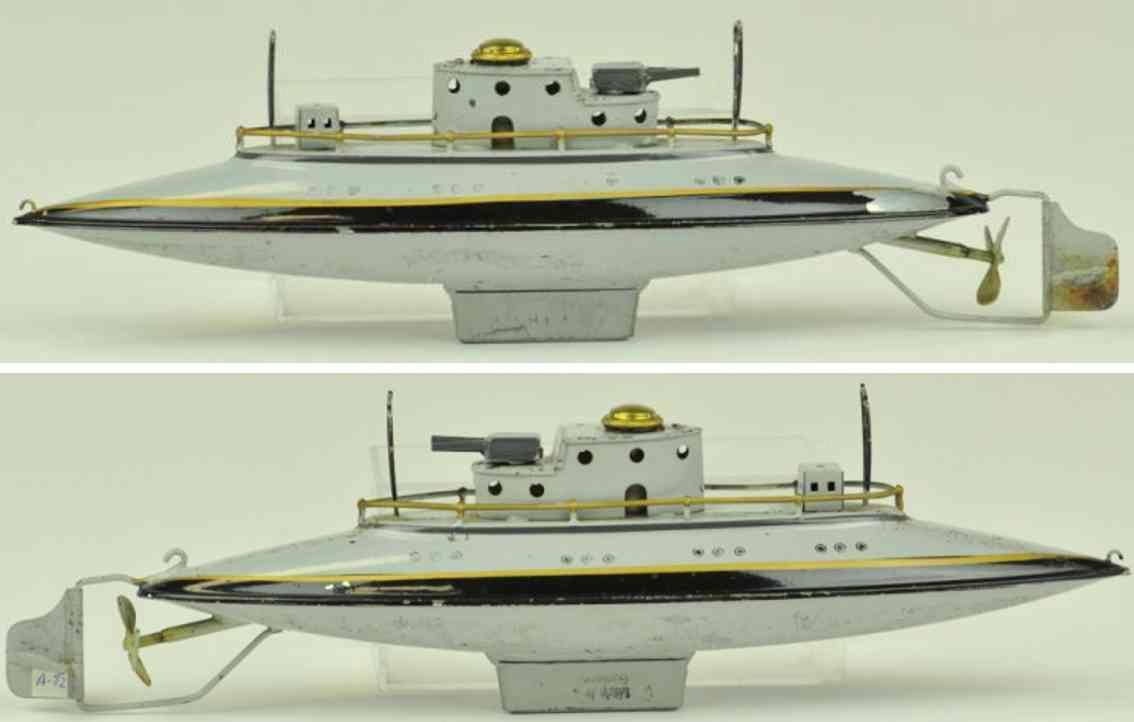 arnold 2003 blech spielzeug u-boot unterseeboot