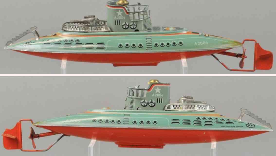 arnold a2004 blech spielzeug unterseebot u-boot