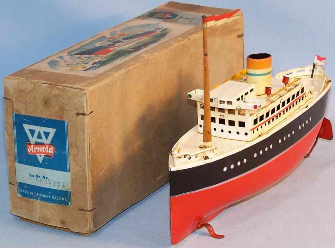 arnold 2025/23 blech spielzeug dampfschiff uhrwerk