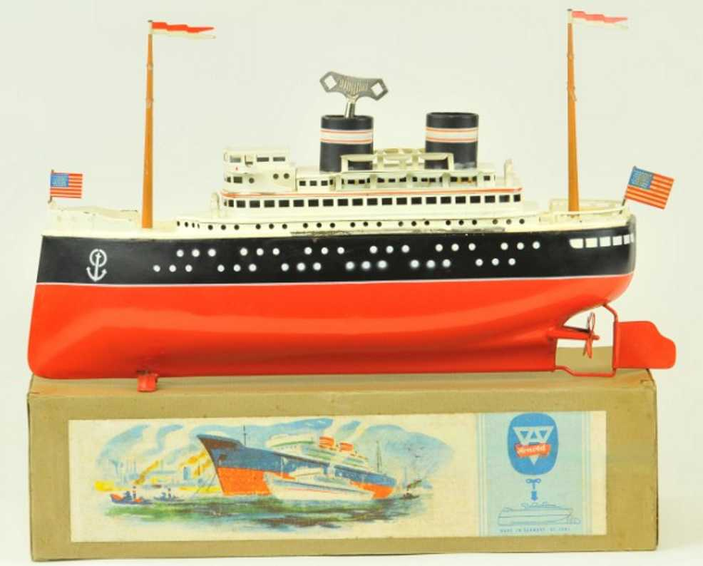 arnold 2025/42 blech spielzeug schiff ozeandampfer