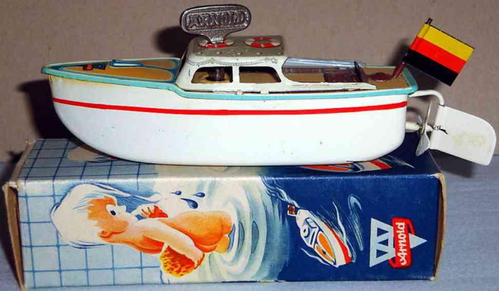 arnold 2035 blech spielzeug kabinenboot uhrwerk