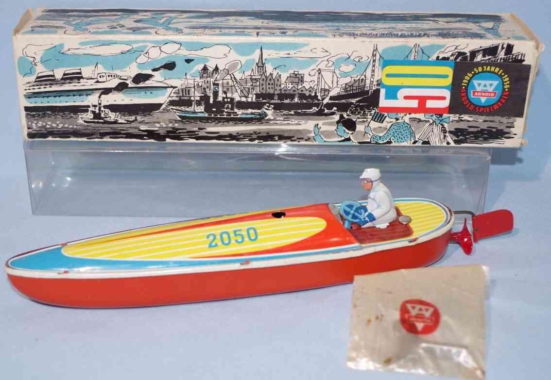 arnold 2050 blech spielzeug rennboot