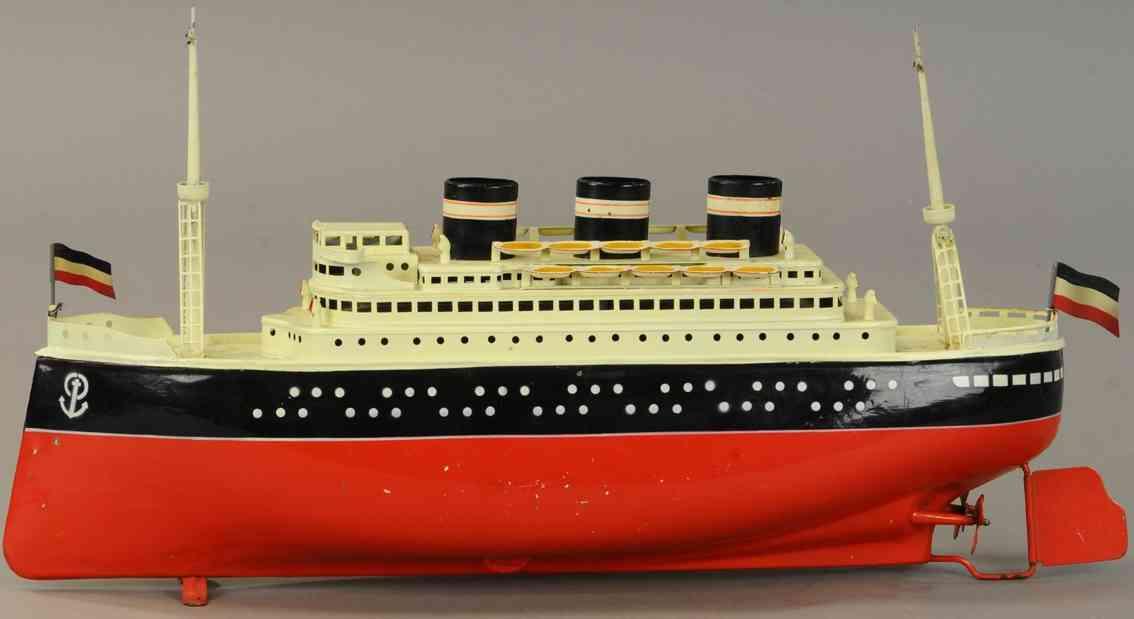 arnold 2025/42 blech spielzeug schiff ozeandampfer uhrwerk