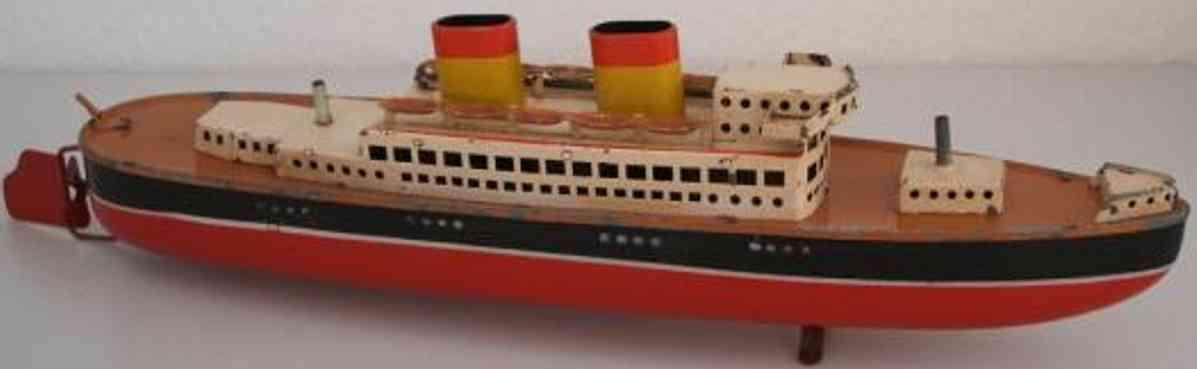 arnold blech spielzeug schiff dampfer uhrwerk