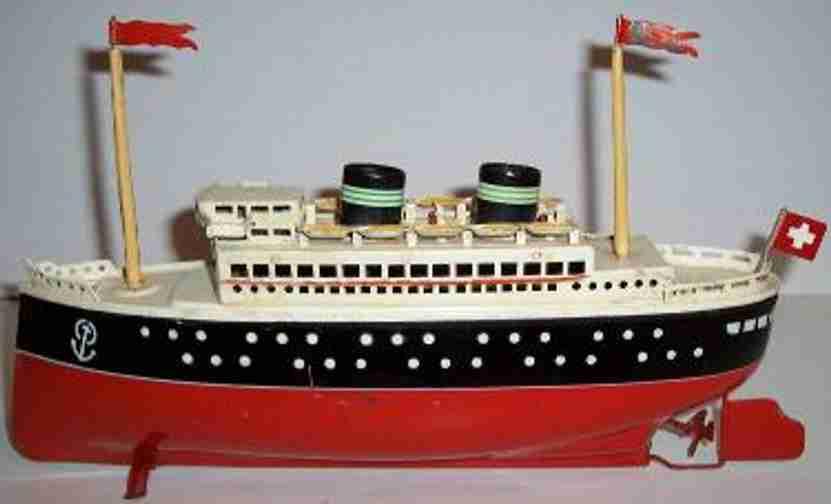 arnold 2025/31 blech spielzeug schiff blechdampfer uhrwerk