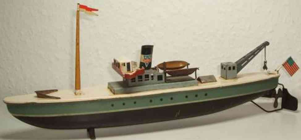 arnold blech spielzeug frachtschiff uhrwerk
