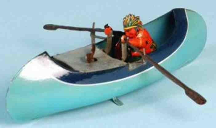 arnold 1612 blech spielzeug kanu rudernder indianer