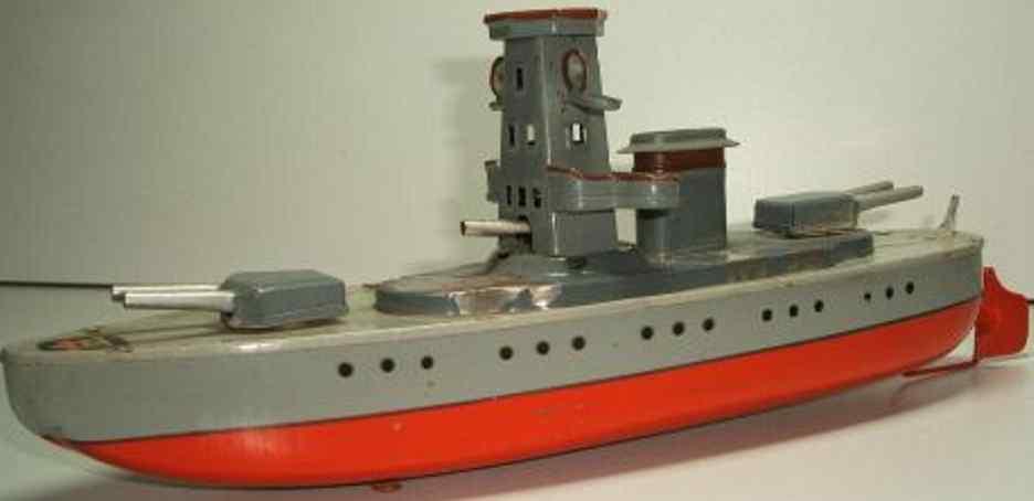 arnold 2070 blech spielzeug schiff kanonenboot uhrwerk