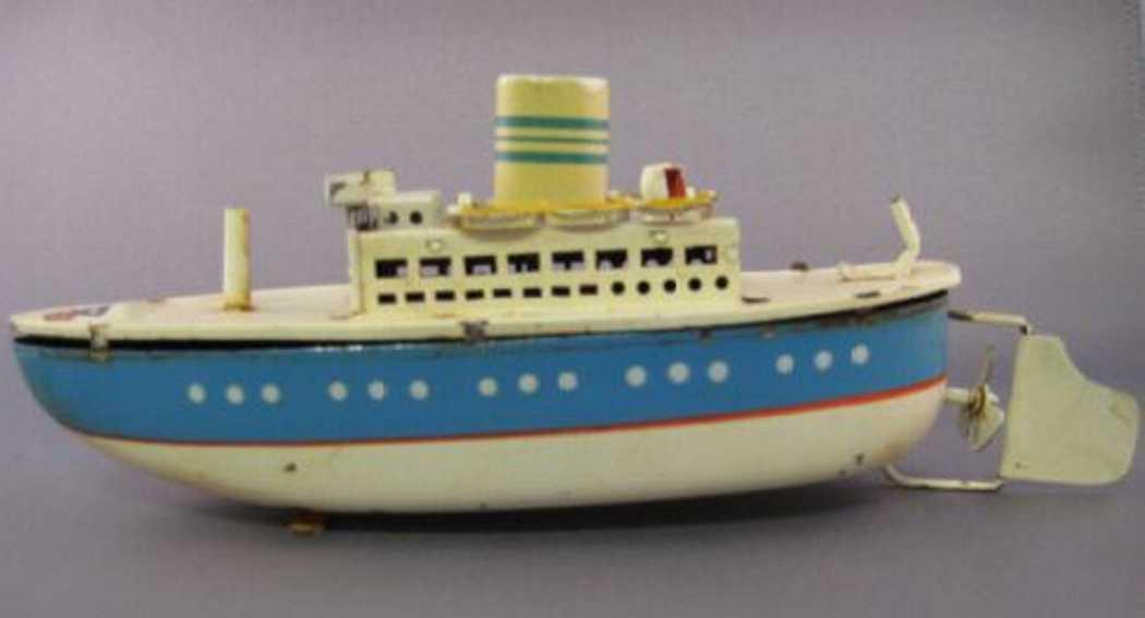 arnold 2020/16 blech spielzeug schiff ozeandampfer uhrwerk