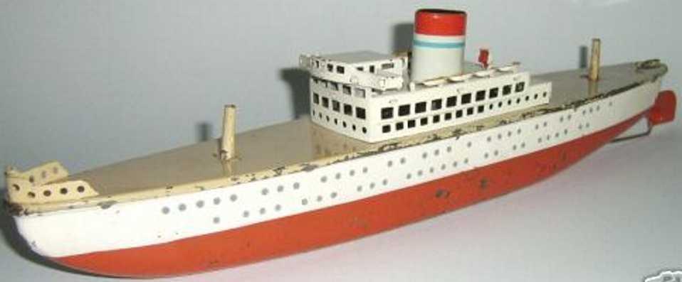 arnold blech spielzeug schiff passagierdampfer uhrwerk