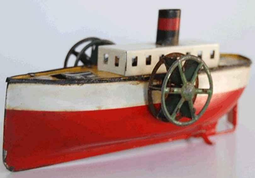 arnold blech spielzeug schiff raddampfer uhrwerk