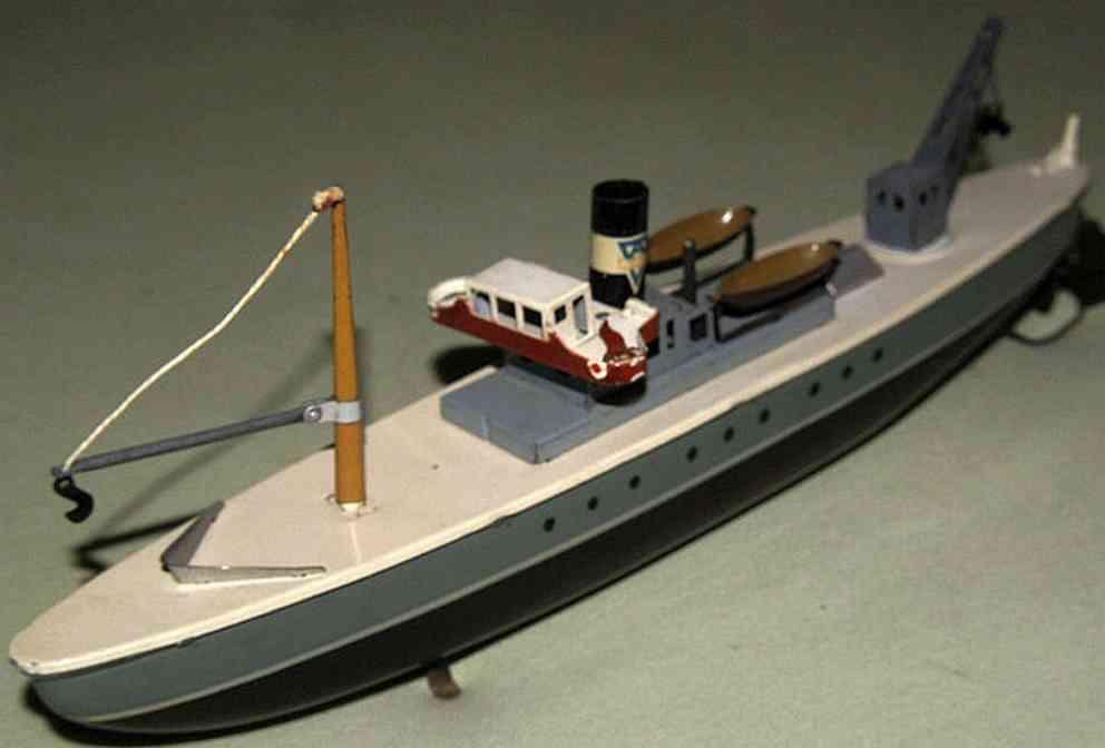 arnold blech spielzeug transportschiff uhrwerk