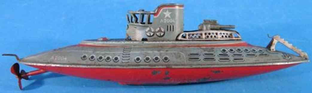 arnold 2004 blech spielzeug u-boot uhrwerk