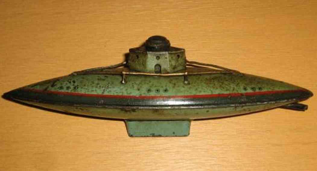arnold 2001 blech spielzeug u-boot mint gruen uhrwerk