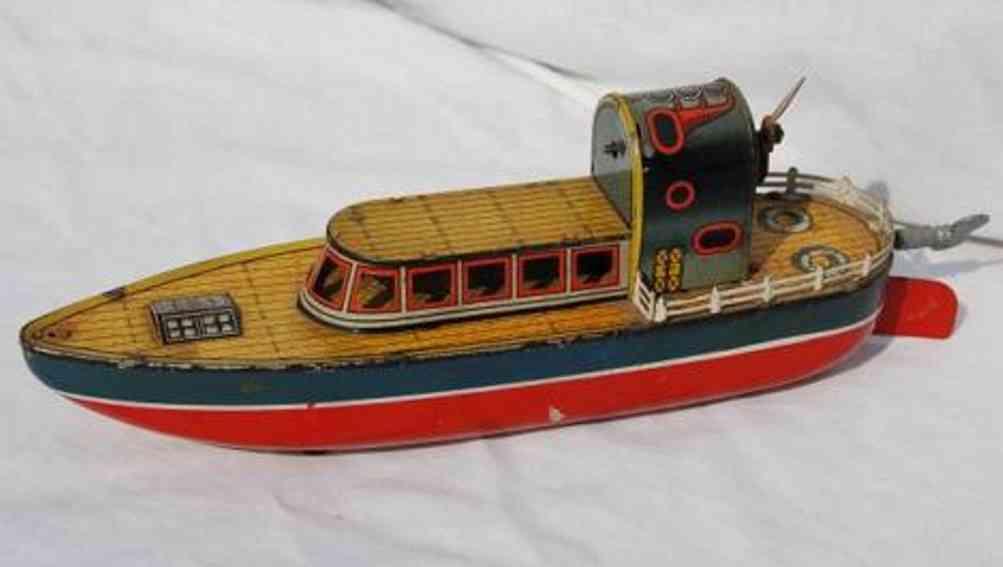 arnold 1600 blech spielzeug schiff flugboot uhrwerk