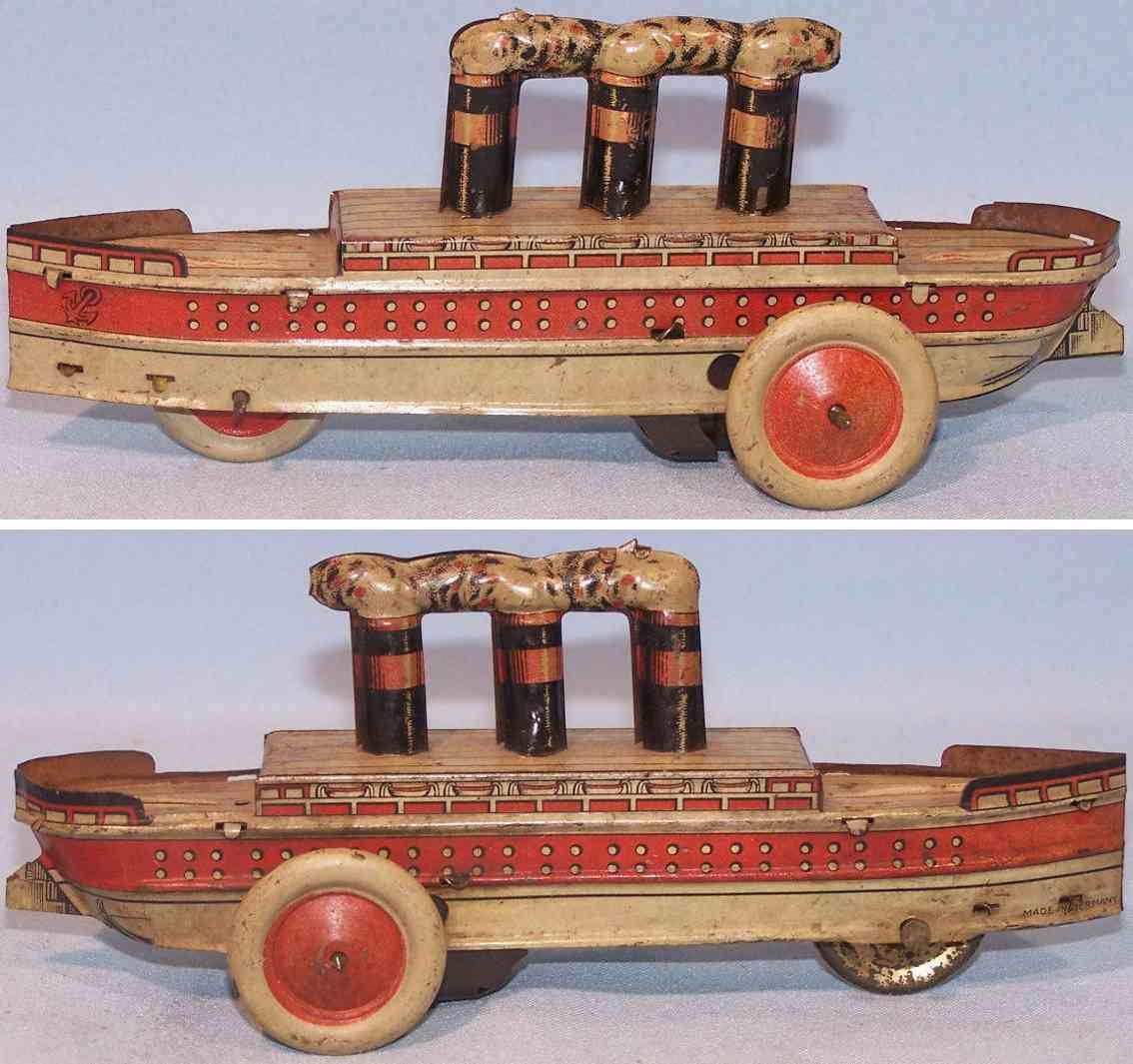 arnold tin toy ship small steamer flywheel