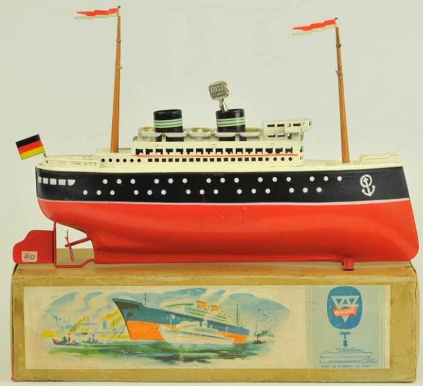 arnold blech spielzeug schiff ozeandampfer