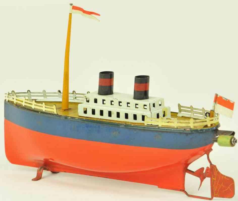 arnold blech spielzeug schiff ozeandampfer uhrwerk