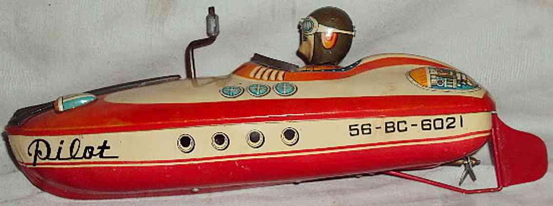 Bandai Rennboot mit Uhrwerk pilot 58-BC-6021