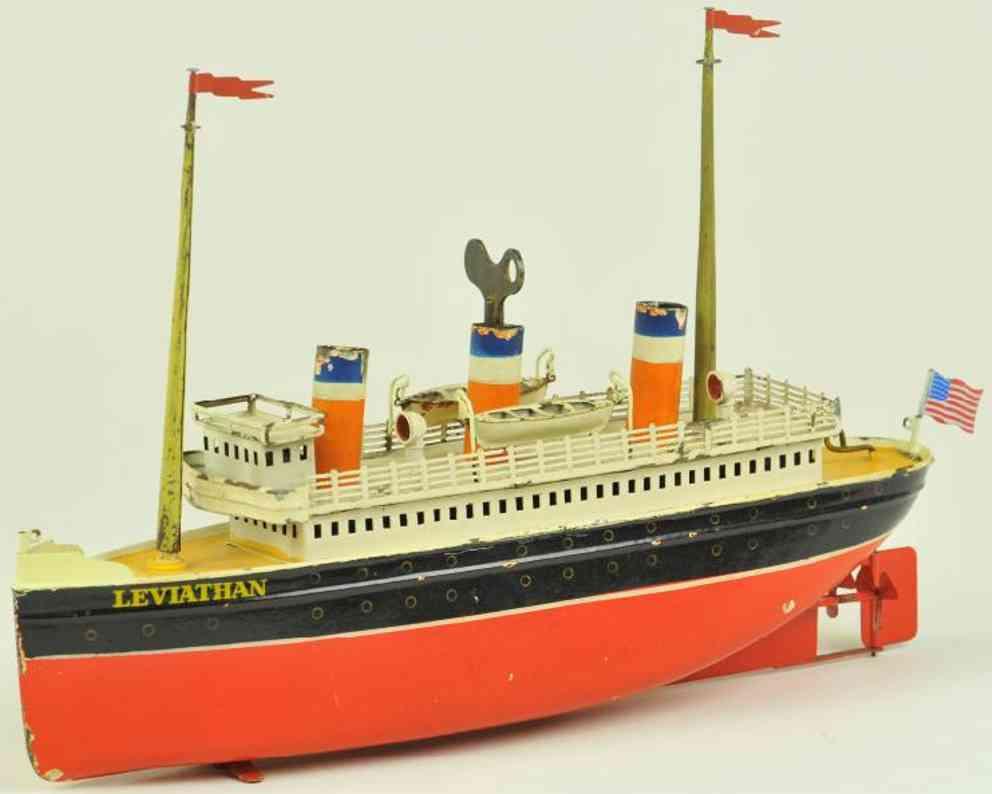 bing 10/334/10 blech spielzeug schiff ozeandampfer leviathan