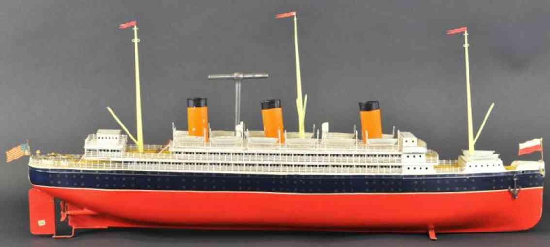 bing 10/334/16 blech spielzeug schiff ozeandampfer