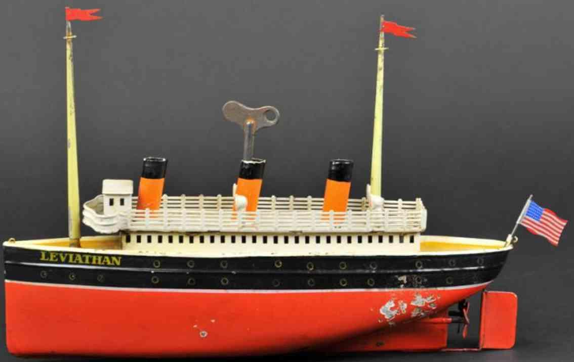 bing 10/334/9 blech spielzeug schiff ozeandampfer leviathan