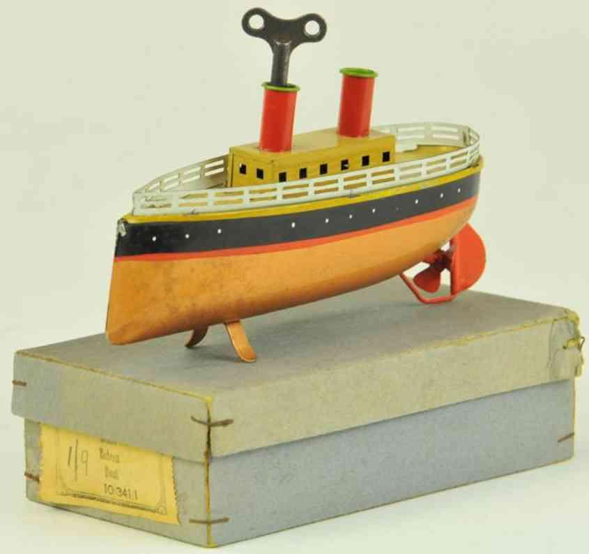 bing 10/341/1 blech spielzeug schiff ozeandampfer