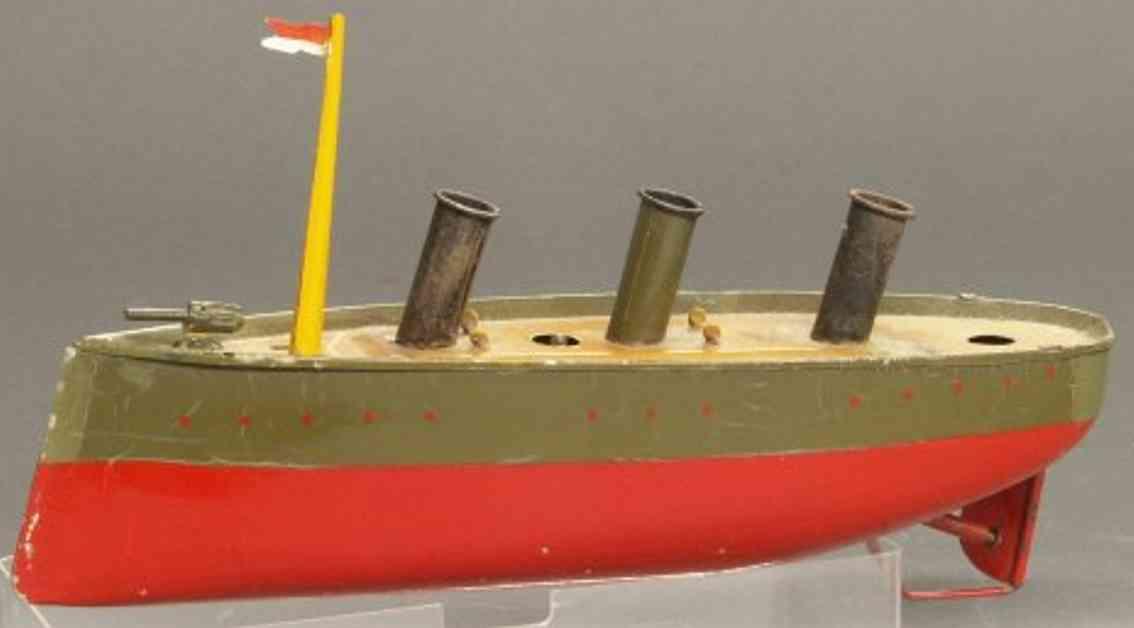 bing 10/342/2 blech spielzeug kriegsschiff uhrwerk
