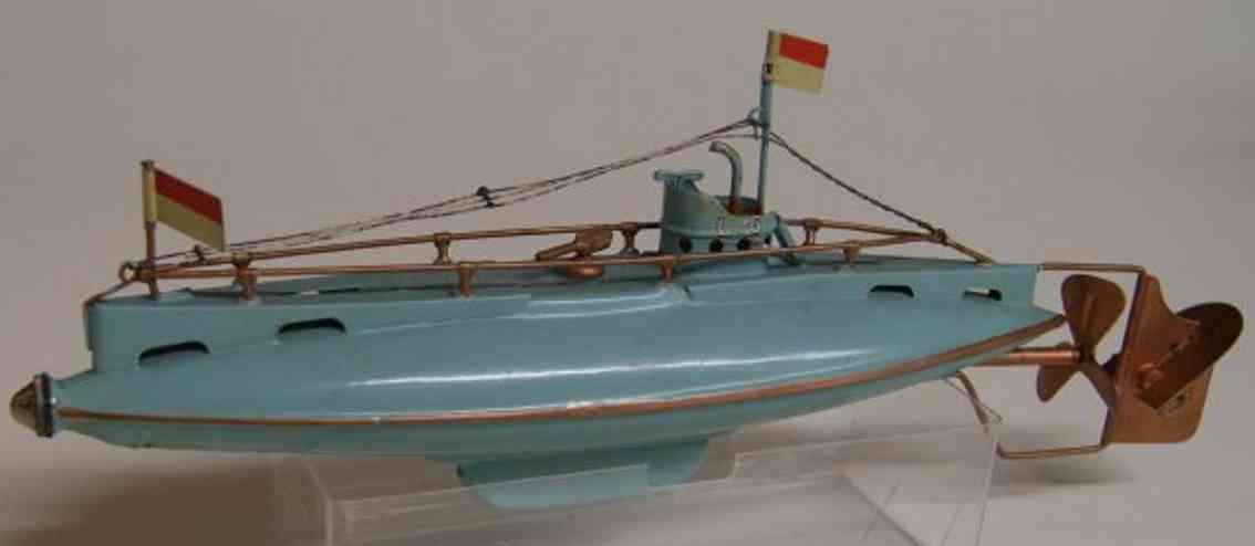 bing 10/344/3 blech spielzeug unterseeboot hellblau