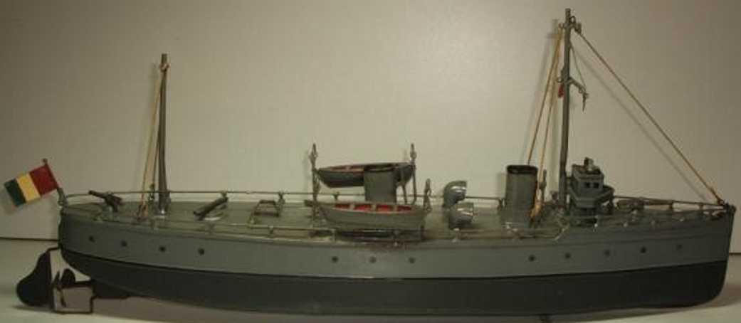 bing 10/353/3 blech spielzeug kanonenboot uhrwerk schlachtschiff dreadnougt
