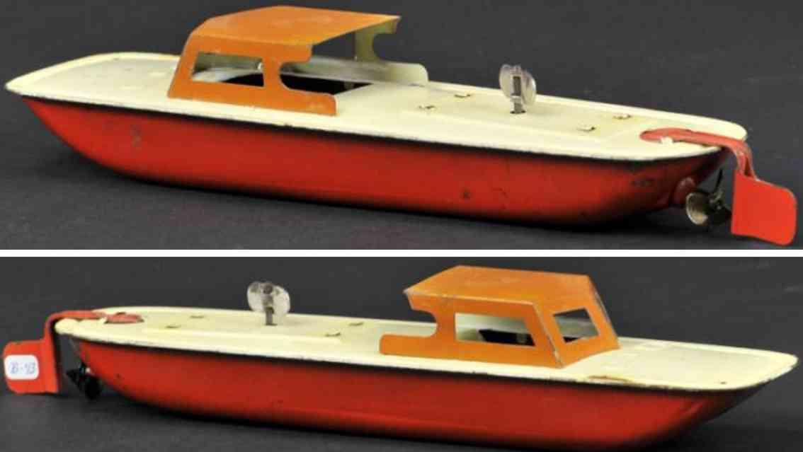 bing 10/359 blech spielzeug schiff motorboot