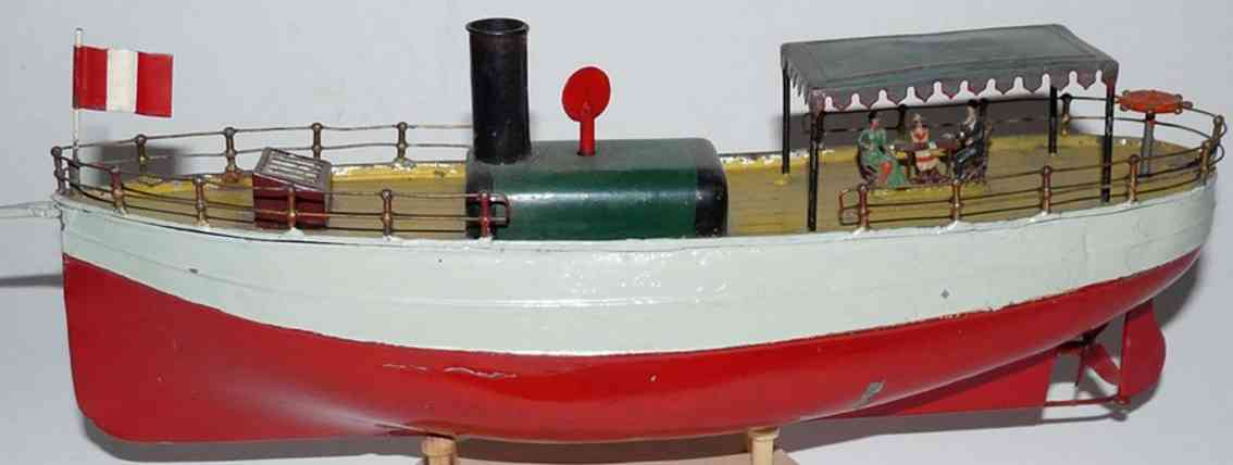 bing 130/2 blech spielzeug flußdampfer mit uhrwerk