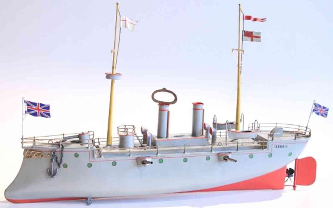 bing 13080/1 blech spielzeug kanonenboot terrible uhrwerk