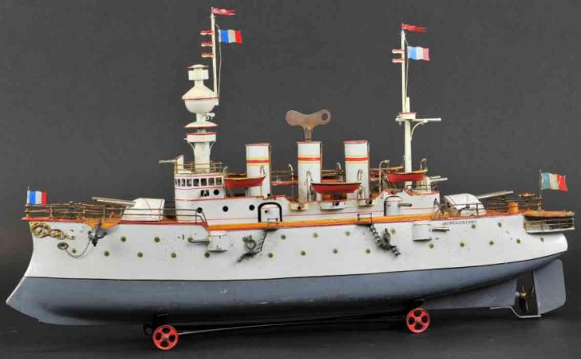 bing 13082/3 blech spielzeug kriegsschiff jaureguiberry