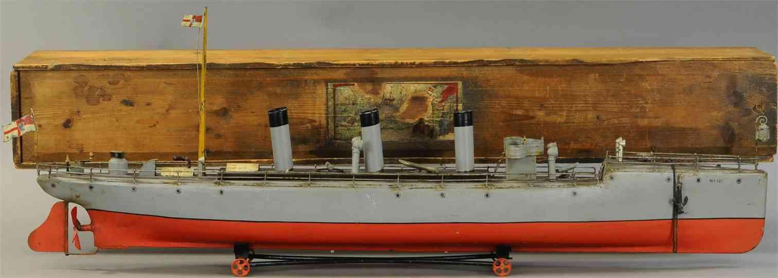bing 13957/3 blech spielzeug torpedoboot mit uhrwerk