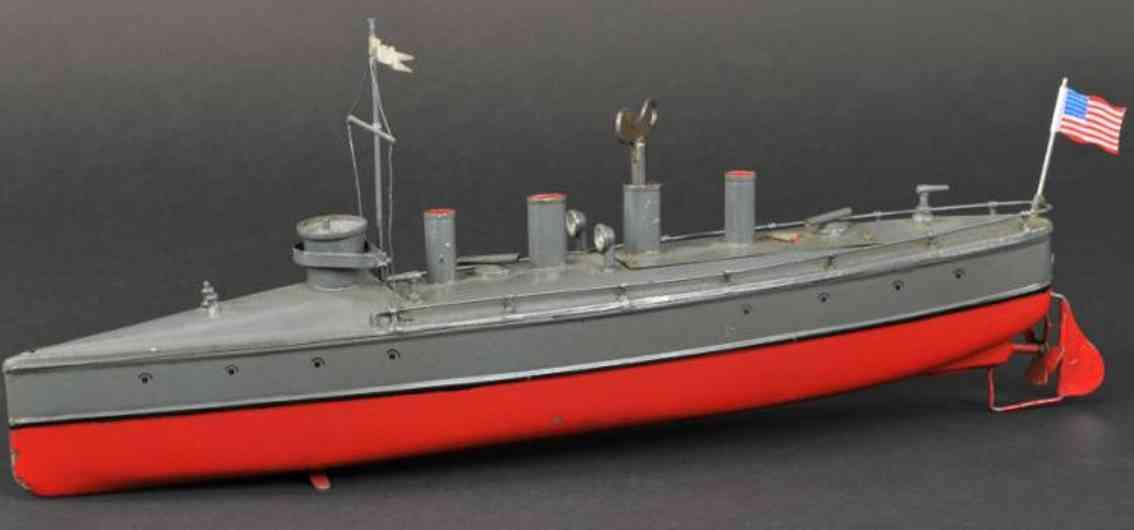 bing 155/143 blech spielzeug schiff torpedoboot uhrwerk