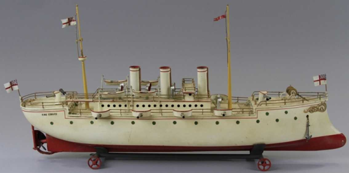 bing 155/173 blech spielzeug king edward kriegsschiff
