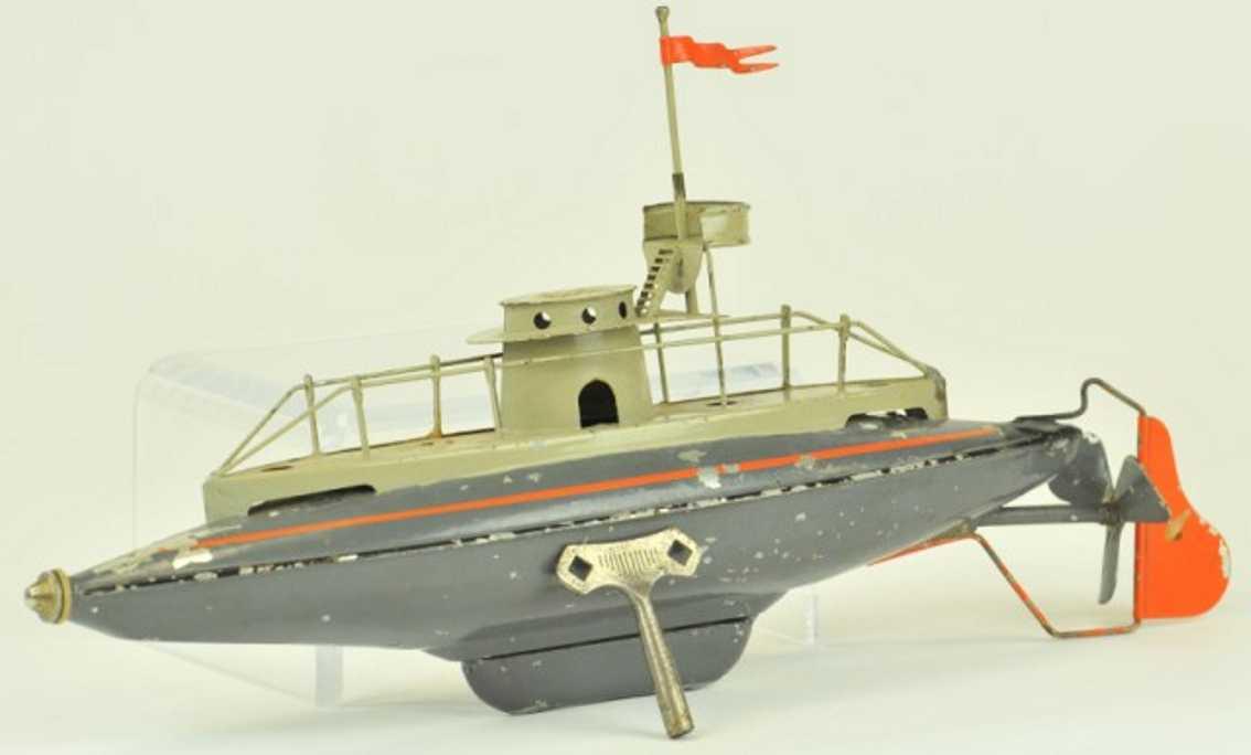bing 155/191 blech spielzeug u-boot uhrwerk